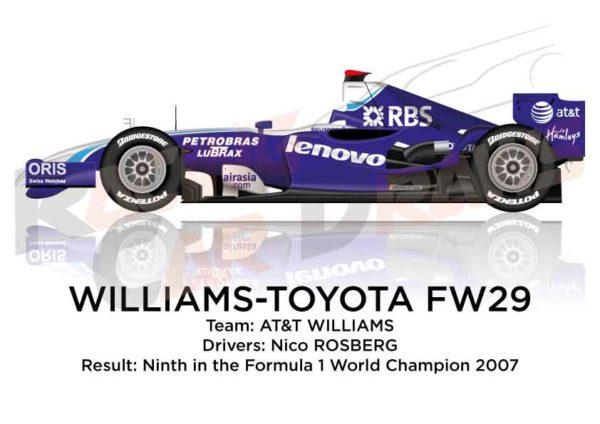 Williams - Toyota FW29 n.16 ninth in the Formula 1 World Champion 2007