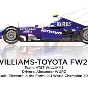 Williams - Toyota FW29 n.17 eleventh in the Formula 1 World Champion 2007
