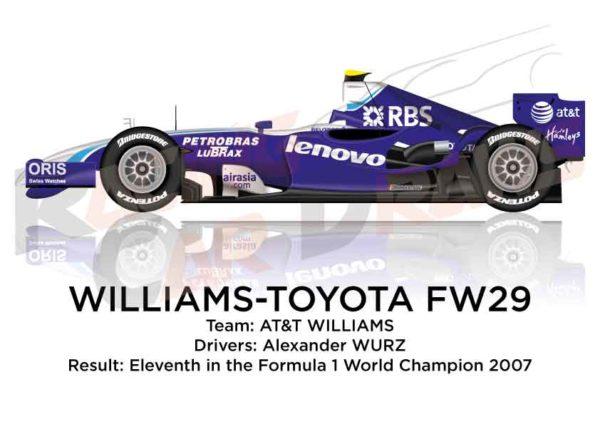 Williams - Toyota FW29 n.17 eleventh in the Formula 1 World Champion 2007