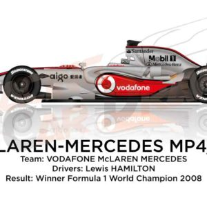 McLaren – Mercedes Benz MP4/23 n.22 winner Formula 1 World Champion 2008