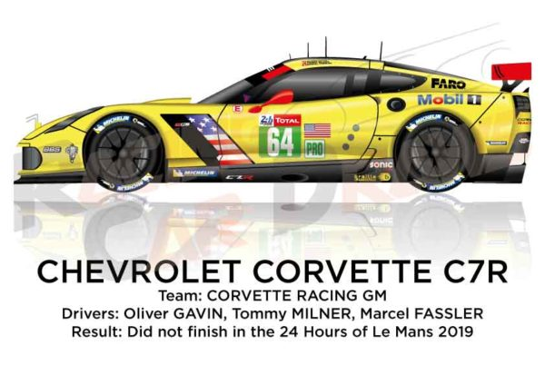 Chevrolet Corvette C7.R n.64 did not finish 24 hours of Le Mans 2019