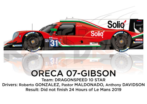 Oreca 07 - Gibson n.31 did not finish 24 hours of Le Mans 2019