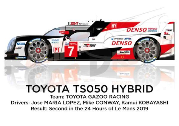 Toyota Hybrid TS050 n.7 second in the 24 Hours of Le Mans 2019