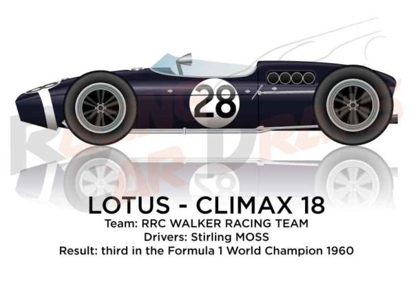 Lotus - Climax 18 third in the Formula 1 World Champion 1960 with Stirling Moss