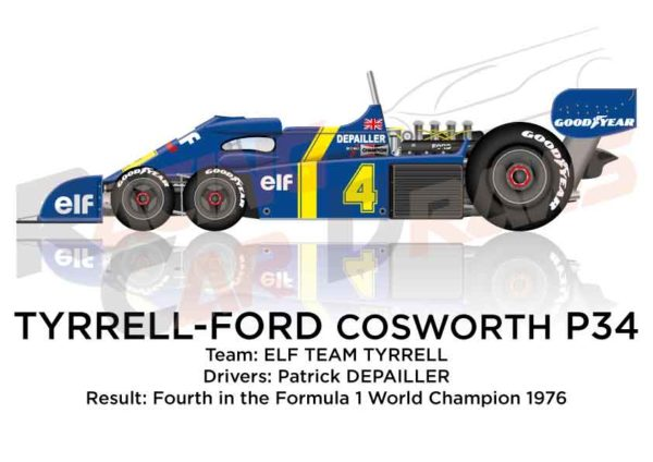 Tyrrell - Ford Cosworth P34 n.4 fourth Formula 1 World Champion 1976
