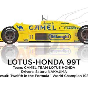 Lotus - Honda 99T n.11 twelfth in the Formula 1 World Champion 1987
