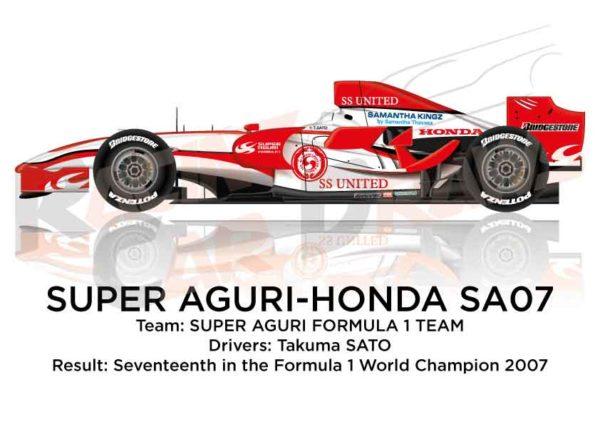 Super Aguri - Honda SA07 n.22 seventeenth in the Formula 1 World Champion 2007