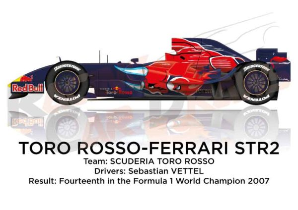 Toro Rosso - Ferrari STR2 n.19 in the Formula 1 World Champion 2007