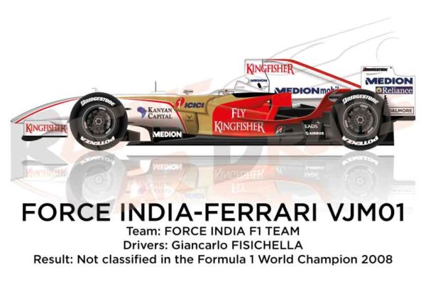 Force India - Ferrari VJM01 n.21 in the Formula 1 World Champion 2008