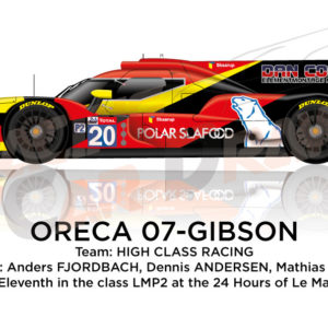 Oreca 07 - Gibson n.20 sixteenth in the 24 hours of Le Mans 2019