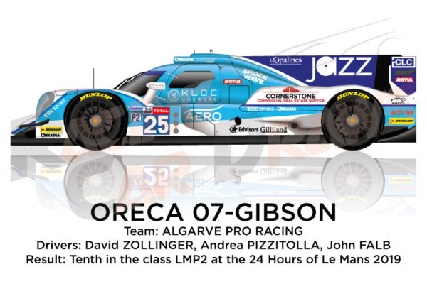 Oreca 07 - Gibson n.25 fifteenth in the 24 hours of Le Mans 2019