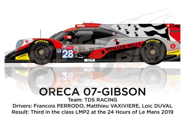 Oreca 07 - Gibson n.28 eighth in the 24 hours of Le Mans 2019