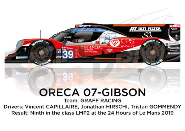 Oreca 07 - Gibson n.39 fourteenth in the 24 hours of Le Mans 2019