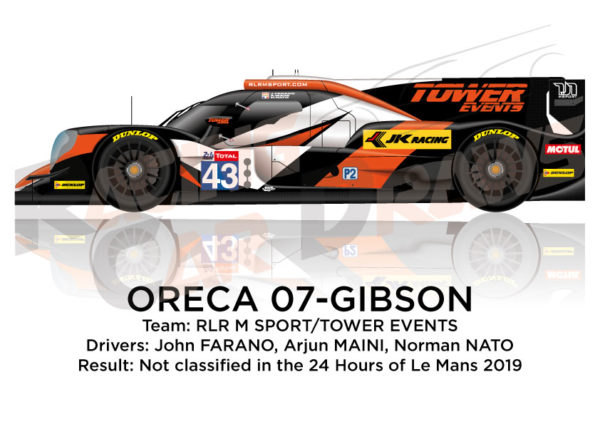 Oreca 07 - Gibson n.43 not classified in the 24 hours of Le Mans 2019