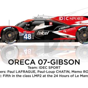Oreca 07 - Gibson n.48 tenth in the 24 hours of Le Mans 2019