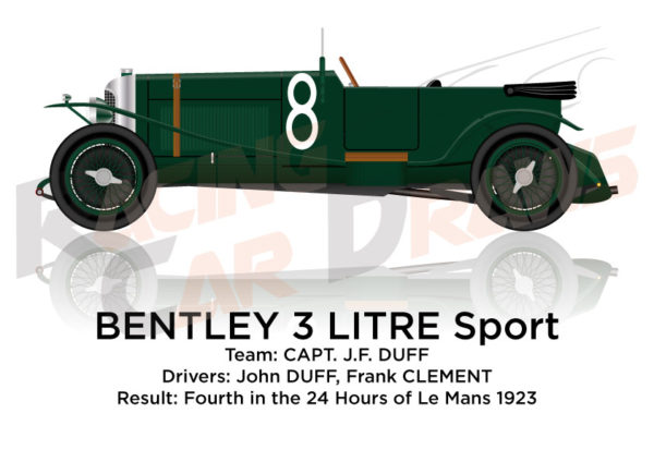 Bentley 3 LItre n.8 fourth in the 24 Hours of Le Mans 1923