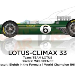 Lotus - Climax 33 n.6 eighth in the Formula 1 World Champion 1965