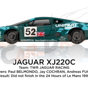 Jaguar XJ220S n.52 did not finish in the 24 Hours of Le Mans 1993