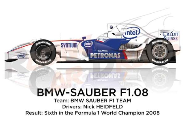 BMW - Sauber F1.08 n.3 sixth in the Formula 1 World Champion 2008