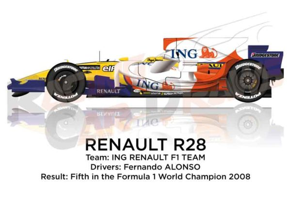 Renault R28 n.5 fifth in the Formula 1 World Champion 2008