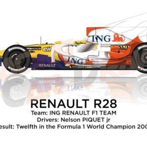 Renault R28 n.6 twelfth in the Formula 1 World Champion 2008