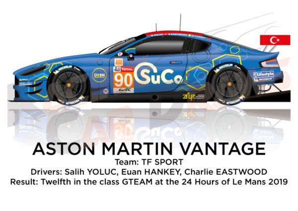 Aston Martin Vantage n.90 forty-three in the 24 hours of Le Mans 2019