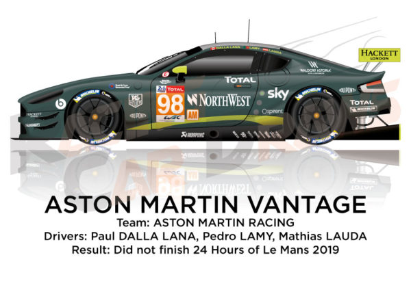 Aston Martin Vantage n.98 did not finish 24 hours of Le Mans 2019