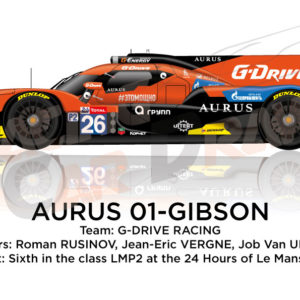 Aurus 01 - Gibson n.26 eleventh in the 24 Hours of Le Mans 2019