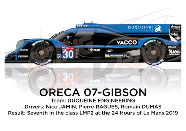 Oreca 07 - Gibson n.30 twelfth in the 24 hours of Le Mans 2019