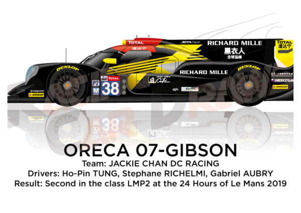 Oreca 07 - Gibson n.38 seventh in the 24 hours of Le Mans 2019