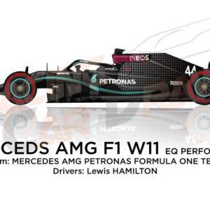 Mercedes AMG F1 W11 EQ Performance n.44 Formula 1 2020