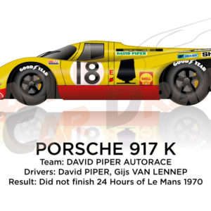 Porsche 917 K n.18 did not finish 24 Hours of Le Mans 1970