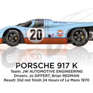 Porsche 917 K n.20 did not finish 24 Hours of Le Mans 1970