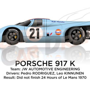 Porsche 917 K n.21 did not finish 24 Hours of Le Mans 1970