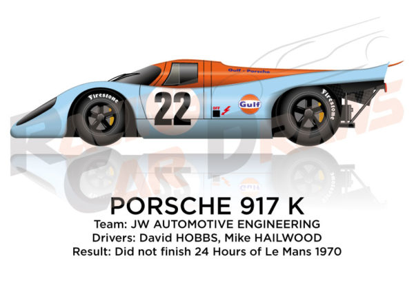 Porsche 917 K n.22 did not finish 24 Hours of Le Mans 1970