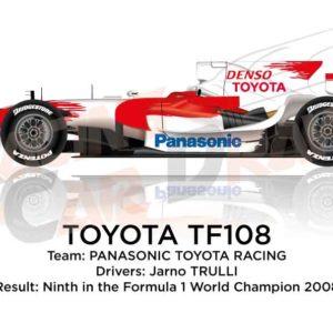 Toyota TF108 n.11 ninth in the Formula 1 World Champion 2008