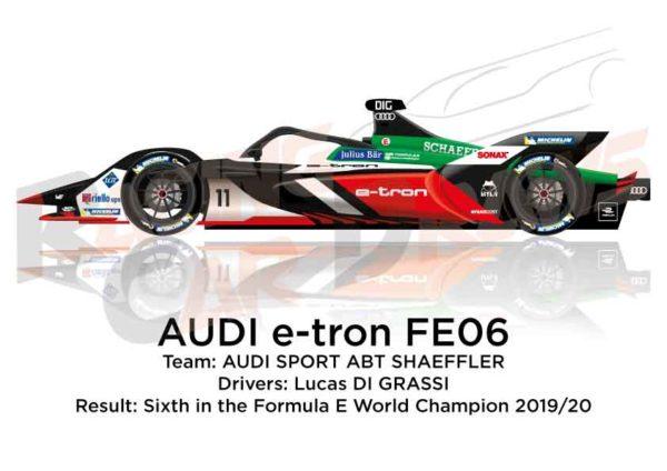 Audi e-tron FE06 n.11 sixth in the Formula E Champion 2020