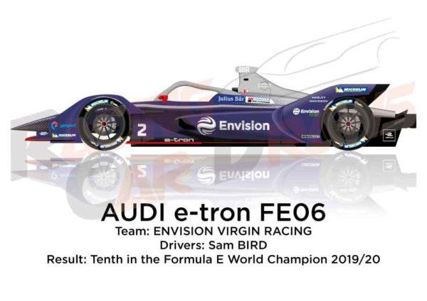 Audi e-tron FE06 n.2 tenth in the Formula E Champion 2020