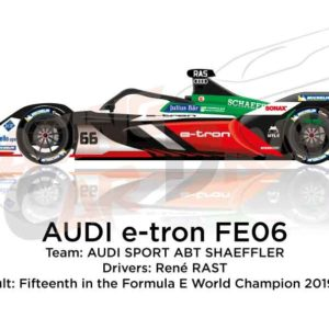 Audi e-tron FE06 n.66 fifteenth in the Formula E Champion 2020