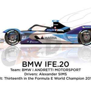BMW IFE.20 n.27 thirteenth in the Formula E Champion 2020