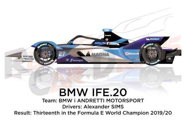 BMW IFE.20 n.27 thirteenth in the Formula E Champion 2020