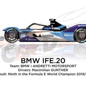 BMW IFE.20 n.28 ninth in the Formula E Champion 2020