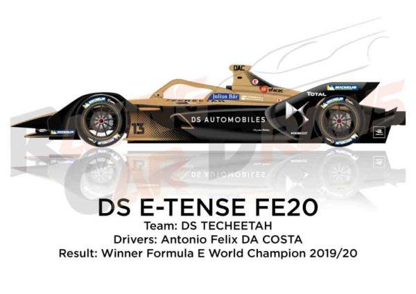DS E-TENSE FE20 n.13 Winner Formula E World Champion 2020