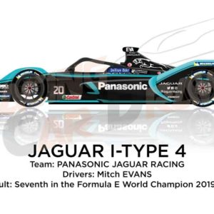 Jaguar I-Type 4 n.20 seventh in the Formula E Champion 2020