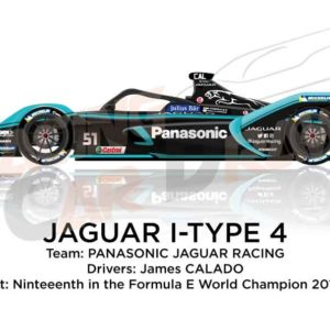 Jaguar I-Type 4 n.51 nineteenth in the Formula E Champion 2020