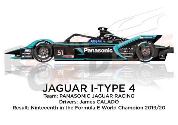Jaguar I-Type 4 n.51 nineteenth in the Formula E Champion 2020
