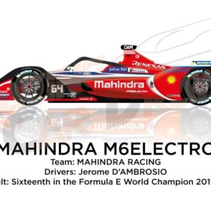 Mahindra M6Electro n.64 sixteenth in the Formula E Champion 2020