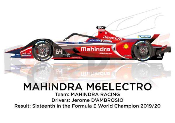 Mahindra M6Electro n.64 sixteenth in the Formula E Champion 2020
