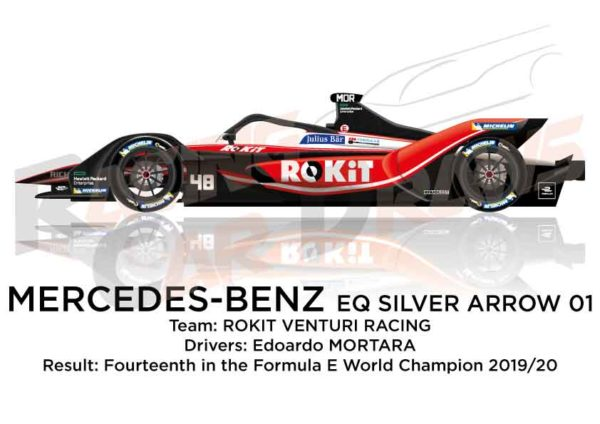 Mercedes-Benz EQ Silver Arrow 01 n.48 Formula E Champion 2020