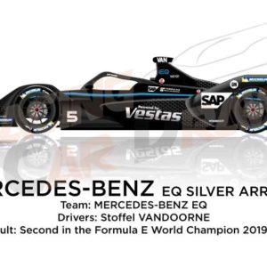Mercedes-Benz EQ Silver Arrow 01 n.5 second Formula E Champion 2020